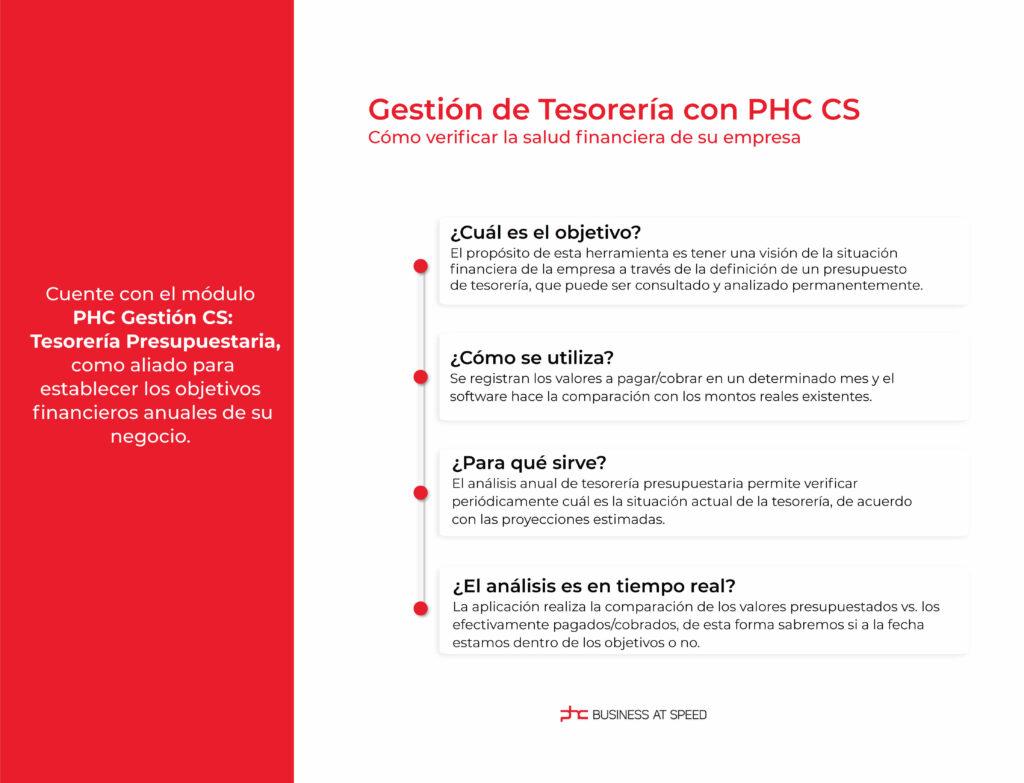 Infografía de Gestión de Tesorería con PHC CS